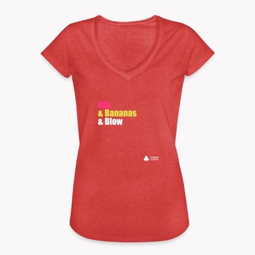 AKs & Bananas & Blow - Frauen Vintage T-Shirt