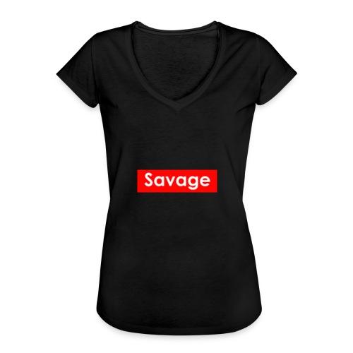 Savage / Supreme tshirt - Vrouwen Vintage T-shirt