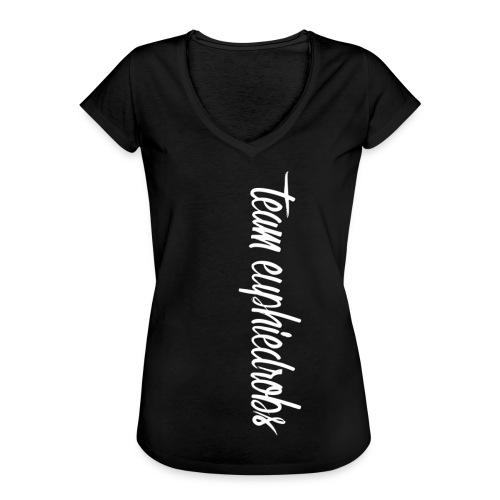 team euphiedrobs weißer Schriftzug - Frauen Vintage T-Shirt