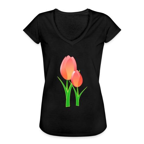 Belle fleur - T-shirt vintage Femme