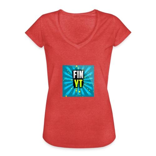 Uusi Youtube Logo - Naisten vintage t-paita