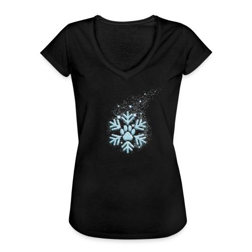 Vorschau: dog paw snowflake - Frauen Vintage T-Shirt