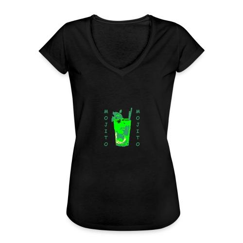 Mojito bicchiere colorato - Maglietta vintage donna