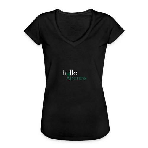 hullo Aircrew Dark - Women's Vintage T-Shirt