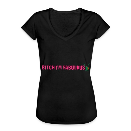 Bitch, I'm fabulous modliszka, długie - Koszulka damska vintage