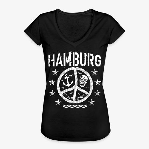 105 Hamburg Peace Anker Seil Koordinaten - Frauen Vintage T-Shirt