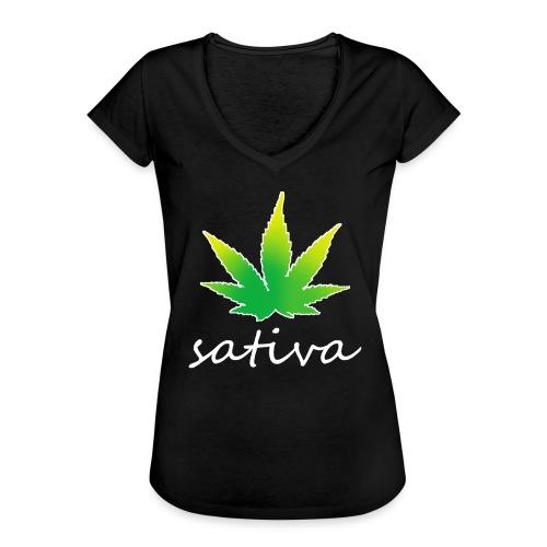 sativa weed - T-shirt vintage Femme