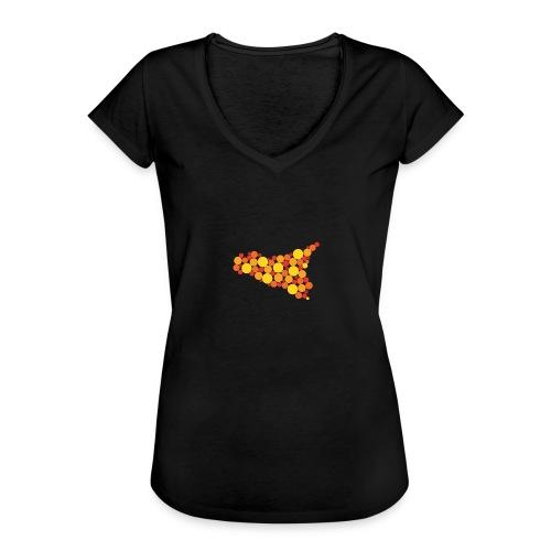 logo sicilia piccolo - Maglietta vintage donna