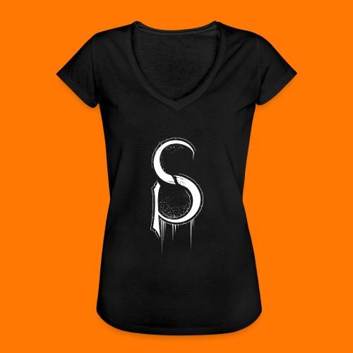 SCP-sign-WHITE transp - Women's Vintage T-Shirt