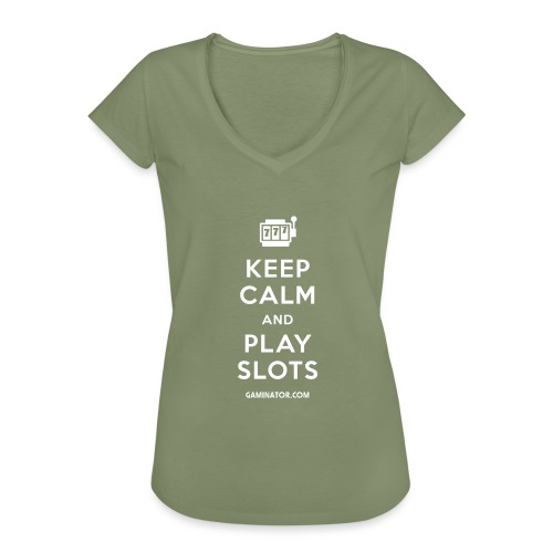 Keep Calm and Play Slots - Women's Vintage T-Shirt