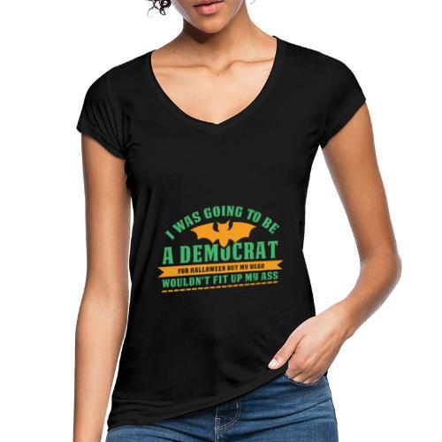 Ich wollte ein Demokrat zu Halloween sein - Frauen Vintage T-Shirt