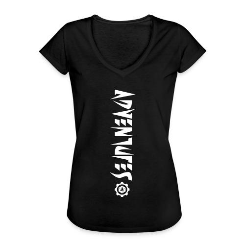 Jebus Adventures Vertical Stripe - Women's Vintage T-Shirt