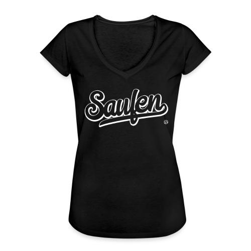 SAUFEN SHIRT - Damen Herren Frauen Männer T Shirt - Vrouwen Vintage T-shirt