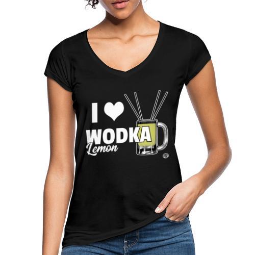 I LOVE WODKA LEMON Shirt - Vodka Shirt - Vrouwen Vintage T-shirt