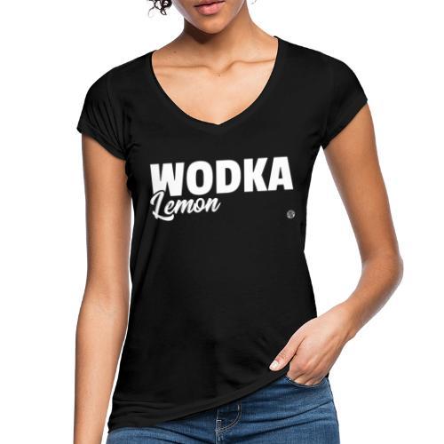 WODKA LEMON SHIRT Vodka Lemon T Shirt Damen Herren - Vrouwen Vintage T-shirt