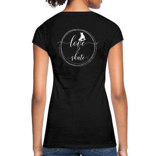 love2skate weiss - Frauen Vintage T-Shirt