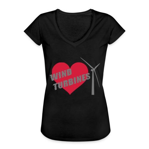 wind turbine grey - Women's Vintage T-Shirt