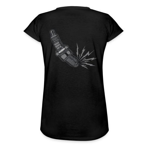 Fehlzünder Kontrast-Pullover - Frauen Vintage T-Shirt