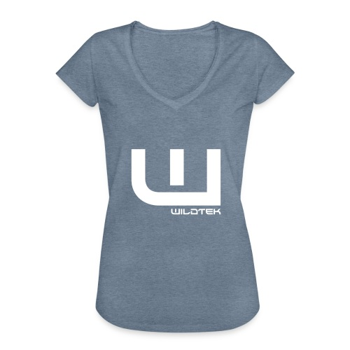 Wildtek Logo White - Women's Vintage T-Shirt