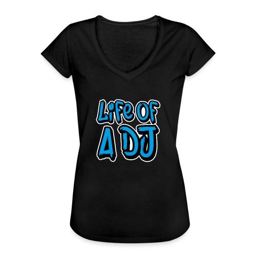 Life of a DJ- Blue - Women's Vintage T-Shirt