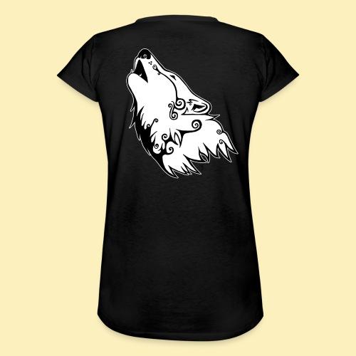 Le Loup de Neved (version contour blanc) - T-shirt vintage Femme