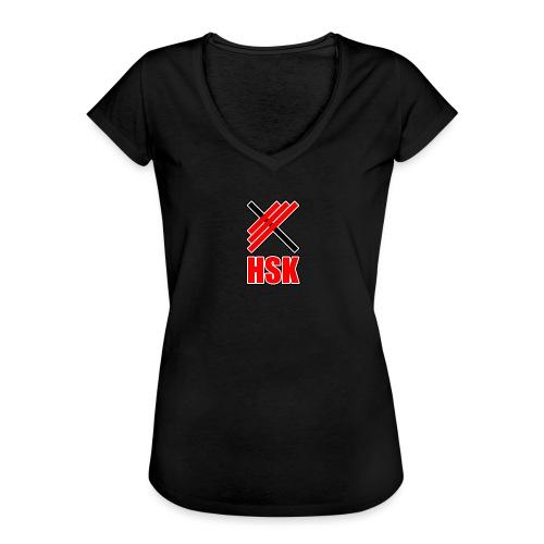 Huddinge styrkelyftklubb 2 logotyper - Vintage-T-shirt dam