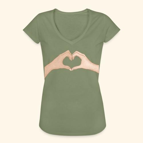 Mains Coeur Amour - Love hands - T-shirt vintage Femme
