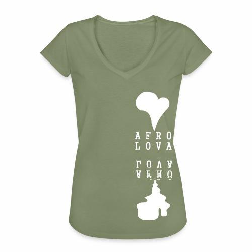 Reflet Afro Lova Rouge - T-shirt vintage Femme