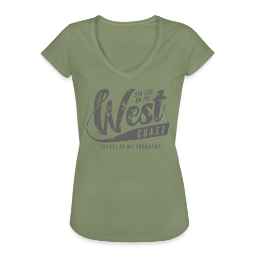 West Coast Sea Surfer Textiles, Gifts, Products - Naisten vintage t-paita