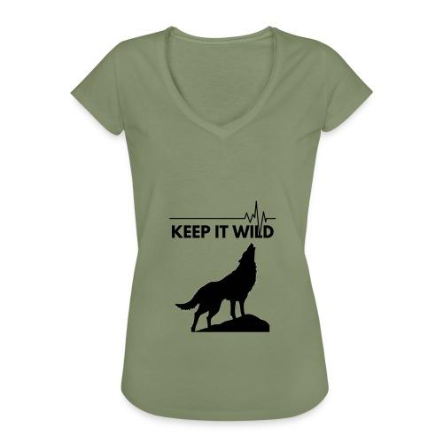 Keep it wild - Frauen Vintage T-Shirt