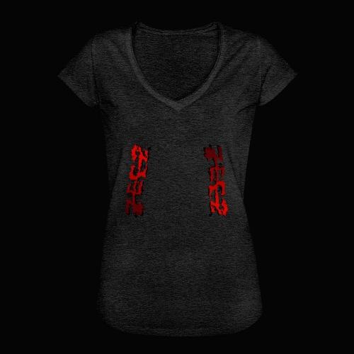 zeez rouge ombre noir abimé - T-shirt vintage Femme