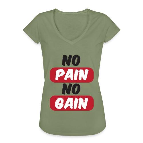 no pain no gain t shirt design fitness - Maglietta vintage donna
