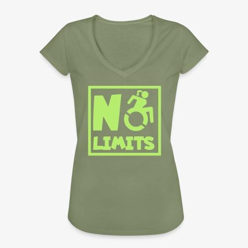 Geen grenzen voor deze dame in rolstoel - Vrouwen Vintage T-shirt