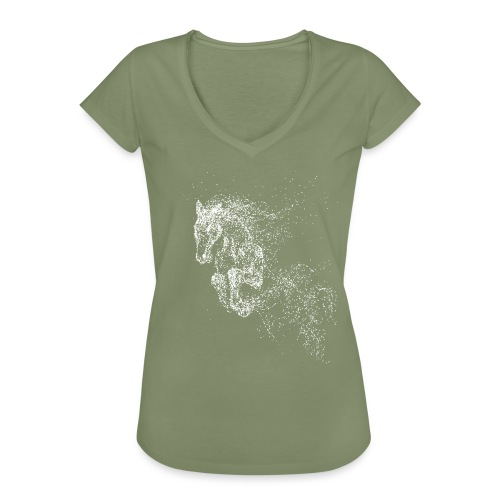Vorschau: jumping horse white - Frauen Vintage T-Shirt