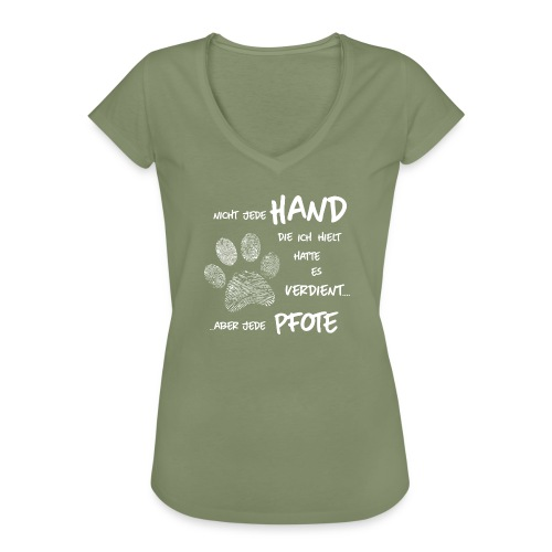 Vorschau: Hand Pfote Hund - Frauen Vintage T-Shirt
