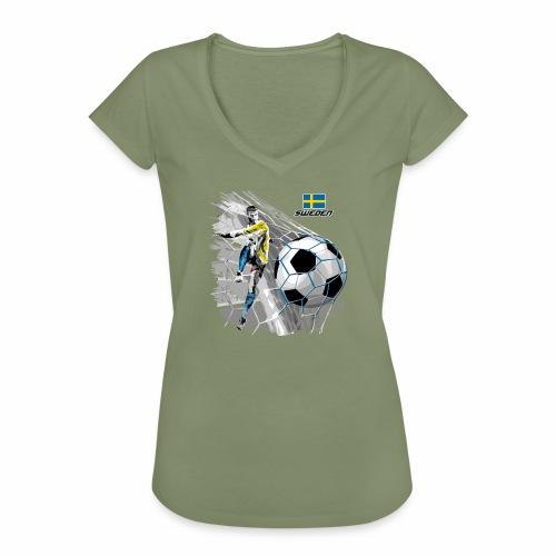 FP22F 16 SWEDEN FOOTBALL - Naisten vintage t-paita