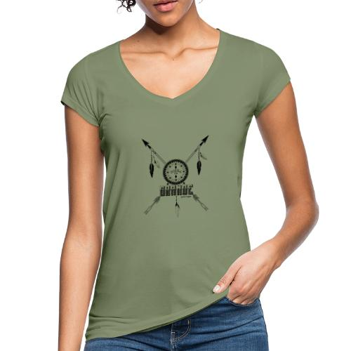 SUEN A EN GRANDE negro - Camiseta vintage mujer