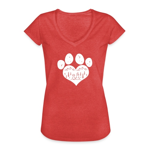 Vorschau: dog girl outdoor pawheart - Frauen Vintage T-Shirt