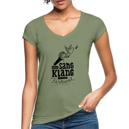 Sang und Klang Logo schwarz - Frauen Vintage T-Shirt