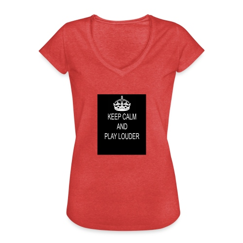 keep calm play loud - T-shirt vintage Femme