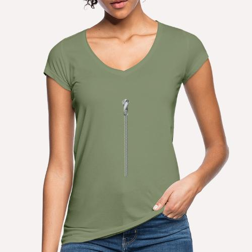 Zipper print - Women's Vintage T-Shirt