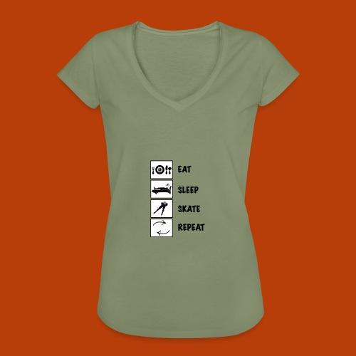 eat sleep skate 2 - Frauen Vintage T-Shirt
