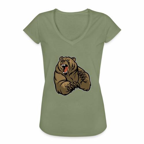 méchant grizzli - T-shirt vintage Femme