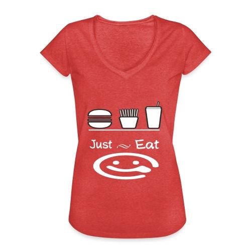just eat - T-shirt vintage Femme