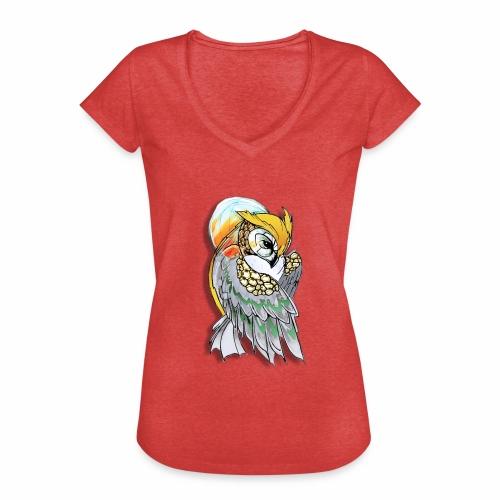 Cosmic owl - Camiseta vintage mujer