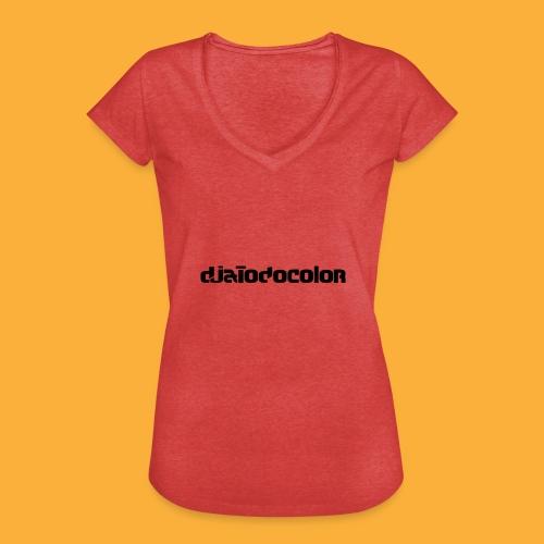 DJATODOCOLOR LOGO NEGRO - Camiseta vintage mujer