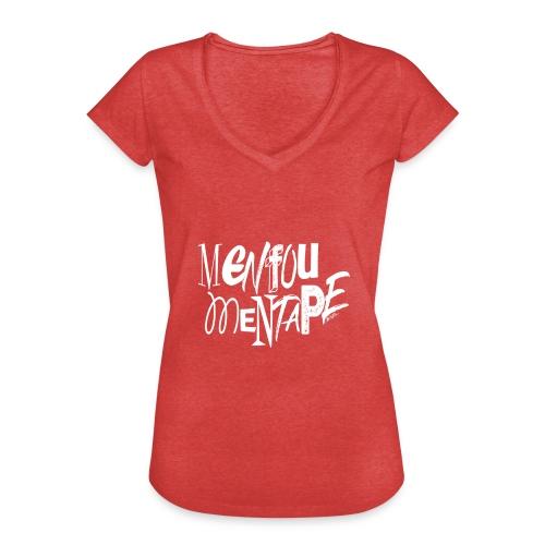 MENFOUMENTAPE (blanc sans contours) by Alice Kara - T-shirt vintage Femme