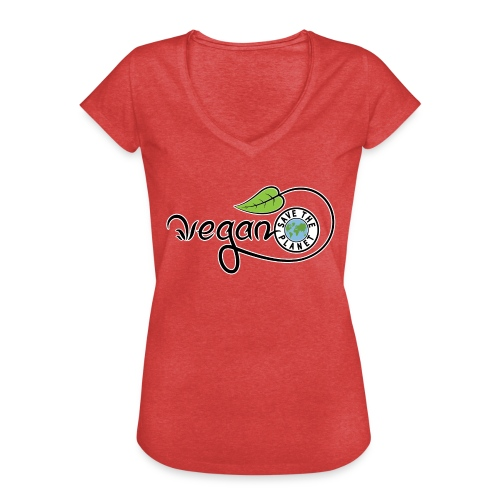 Vegan - T-shirt vintage Femme