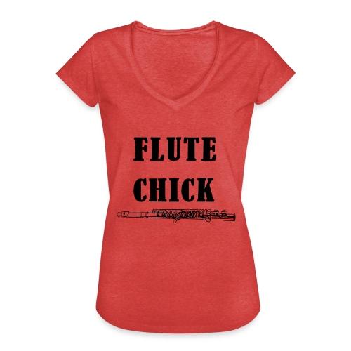 Flute Chick - Vintage-T-skjorte for kvinner