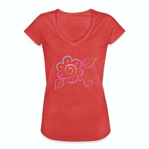 Tonalidades de en flor - Camiseta vintage mujer